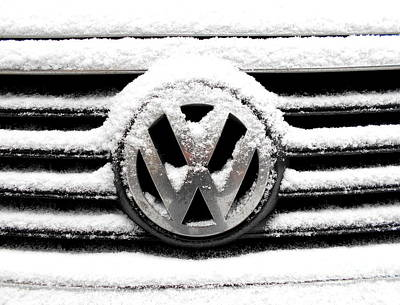 Photograph - Volkswagen Symbol Under The Snow by Erika H