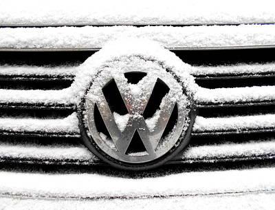 Volkswagen Symbol Under The Snow Art Print