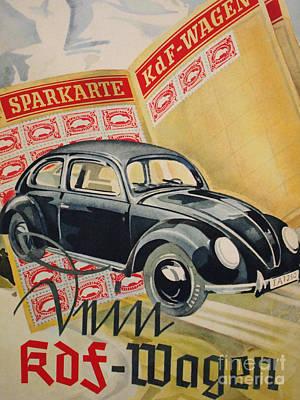 Mixed Media - Volkswagen Vintage Poster by R Muirhead Art