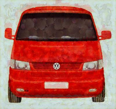 Actors Royalty-Free and Rights-Managed Images - Volkswagon Pop Art by Sarah Kirk