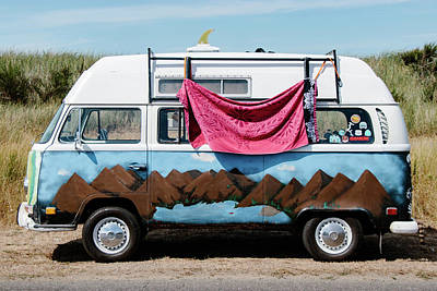 Photograph - Volkswagon Surf Van by Lost River Photography