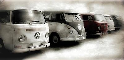Photograph - Volkwagen Bus Line Up II by Athena Mckinzie