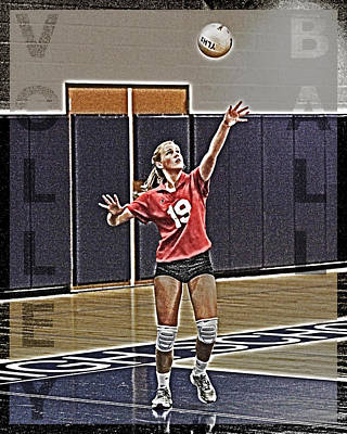 Athletes Royalty-Free and Rights-Managed Images - Volleyball Girl by Kelley King