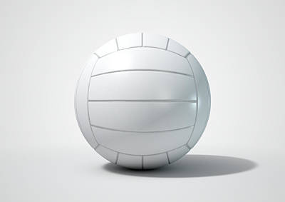 Competing Digital Art - Volleyball Isolated by Allan Swart