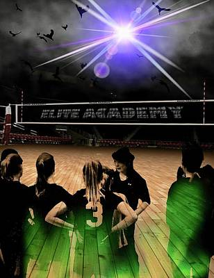 Digital Art - Volleyball Soar by Darren Cannell