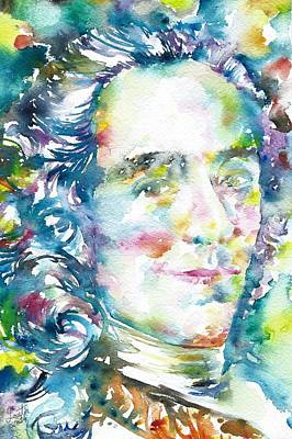 Voltaire - Watercolor Portrait Original