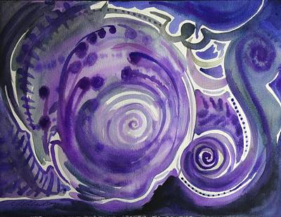 Positive Attitude Painting -  Violet Worlds by Michael Richardson