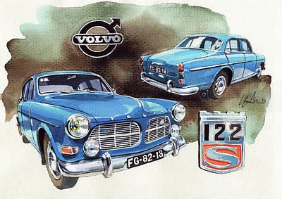 Volvo Painting - Volvo 122s by Yoshiharu Miyakawa