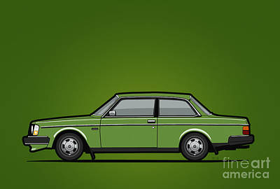 Volvo 242 Brick Coupe 200 Series Green Original by Monkey Crisis On Mars
