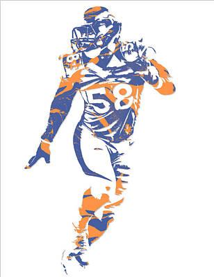 Von Miller Denver Broncos Pixel Art 10 Art Print