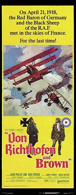 Photograph - Von Richthofen And Brown Theatrical Poster 1971 Frame Added 2016 by David Lee Guss