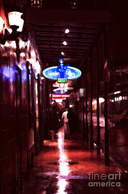 Voodoo Blues On Bourbon Street Art Print by John Rizzuto
