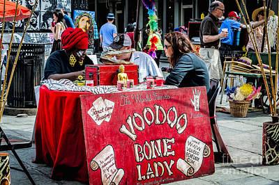 Photograph - Voodoo Bone Lady - Nola by Kathleen K Parker