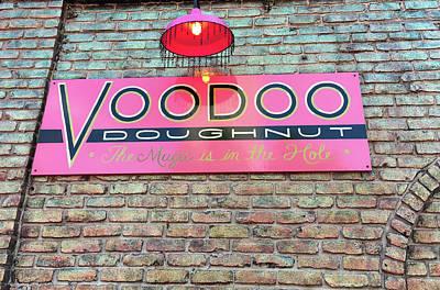 Voodoo Donuts Sign Board Art Print
