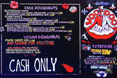 Photograph - Voodoo Doughnut Menu Portland Oregon 20180808 V2 by Wingsdomain Art and Photography