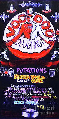 Photograph - Voodoo Doughnut Menu Portland Oregon 20180808 Vertical by Wingsdomain Art and Photography