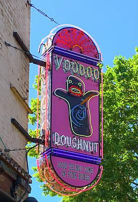 Voodoo Doughnut Neon Sign  Art Print