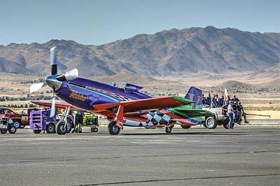 Photograph - Voodoo Engine Start Sunday Gold Unlimited Reno Air Races by John King