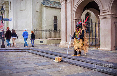 Photograph - Voodoo Man In Jackson Square-digital Art by Kathleen K Parker