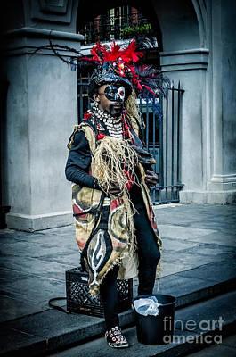 Photograph - Voodoo Man - Nola - Color by Kathleen K Parker