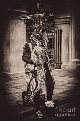 Photograph - Voodoo Mime- Nola by Kathleen K Parker