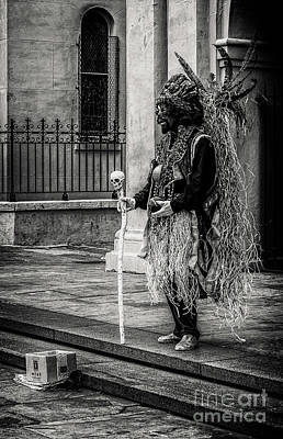 Photograph - Voodoo Noir In Jackson Square - Nola by Kathleen K Parker