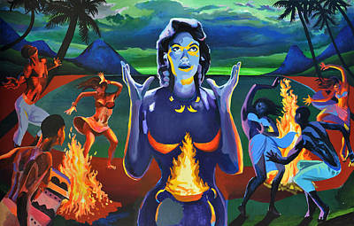 Casting Spells Painting - Voodoo Woman by Geoff Greene