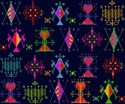 Digital Art - Voodou Folk Art by Vagabond Folk Art - Virginia Vivier