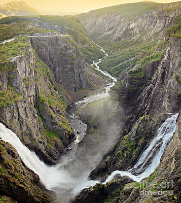 Photograph - Voringsfossen Waterfall And Canyon by IPics Photography