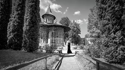 Voronet Monastery - Romania - Black And White Photography Art Print by Giuseppe Milo