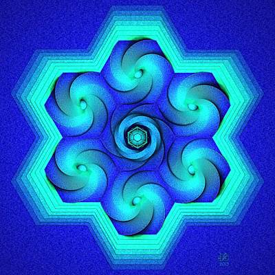 Icosahedron Digital Art - Vort-hex by David Voutsinas