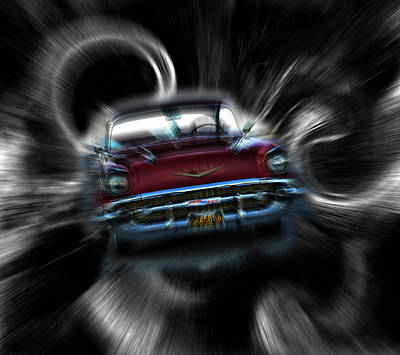 Mixed Media - Vortex Chevy by Lesa Fine
