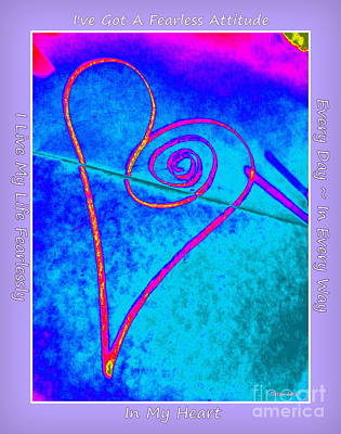 Photograph - Vortex Heart Lyrics by Marlene Rose Besso