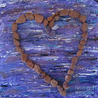 Mixed Media - Vortex Heart Sedona Blue by Marlene Rose Besso