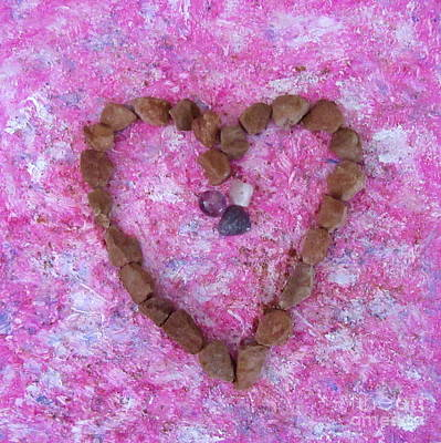 Mixed Media - Vortex Heart Sedona Pink by Marlene Rose Besso