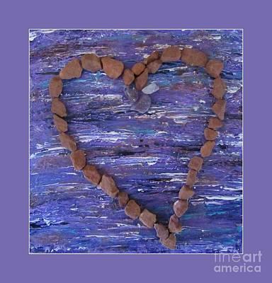 Photograph - Vortex Heart Sedona Purple by Marlene Rose Besso