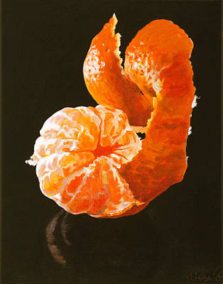 Tangerine Painting - Vortex by Lissa Banks