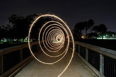 Photograph - Vortex Of Light by Mike Sperduto