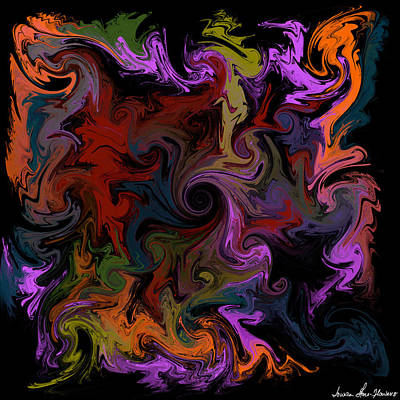 Digital Art - Vortex One by Iowan Stone-Flowers