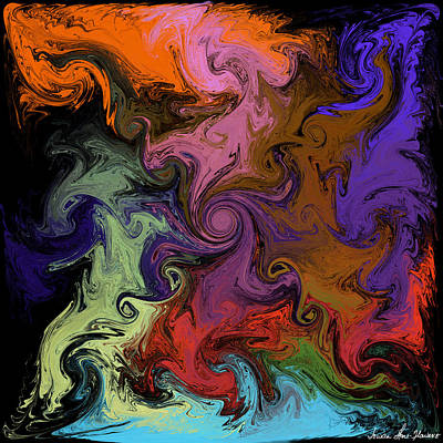 Digital Art - Vortex Two by Iowan Stone-Flowers