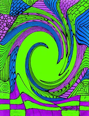 Vortex Painting - Vortex by Wayne Potrafka