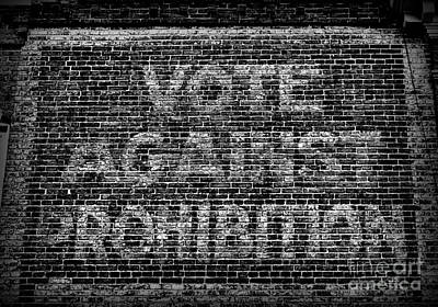 Vote Against Prohibition Art Print by Paul Ward