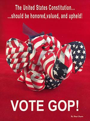 Vote Gop Art Print by Floyd Snyder