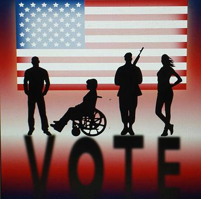 Digital Art - Vote by Thomasina Durkay