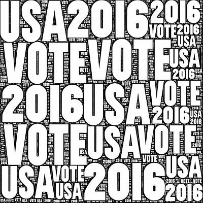 Digital Art - Vote Usa 2016 by Henrik Lehnerer