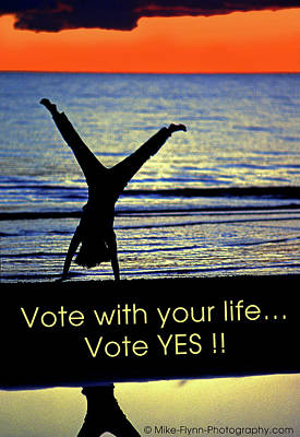 Photograph - Vote With Your Life by Mike Flynn