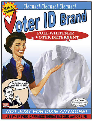 Civil Rights Mixed Media - Voter Id Brand by Ricardo Levins Morales