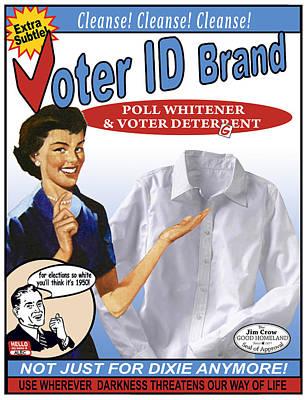 Voter Id Brand Art Print by Ricardo Levins Morales
