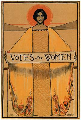 Beach House Signs - Votes for Women - Vintage Propaganda Poster by Studio Grafiikka