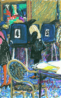 Voting At The Cypress 2012 2 Print by Candace Lovely
